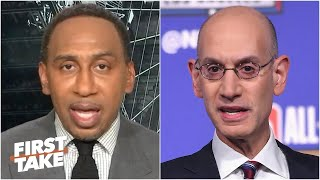 "FIRST TAKE | Stephen A ""reacts to"" Adam Silver addresses diversity in NBA: ""can do better"""