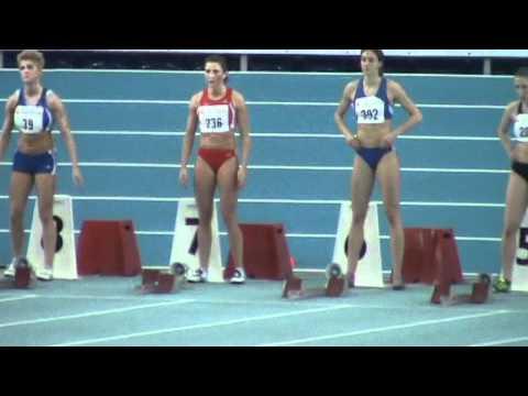 Deutsche Meisterschaften Halle 60m women - Finale - Verena Sailer  - Deutsche Meisterin