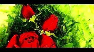 Живопись: Как нарисовать розу за 10 минут(Как нарисовать розу за 10 минут В этом видео показано как просто нарисовать розу мастихином или ножиком...., 2014-01-02T13:26:05.000Z)