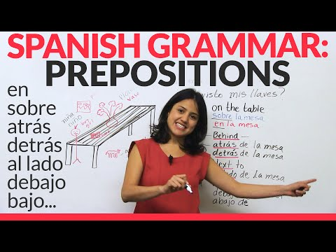Spanish Lesson: Prepositions & Adverbs  in Spanish