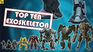 Top 10 ExoSkeletons Ranked | SciFi Films