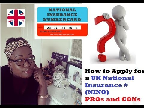 How To Apply For UK National Insurance Number 2018/ To Work In Uk