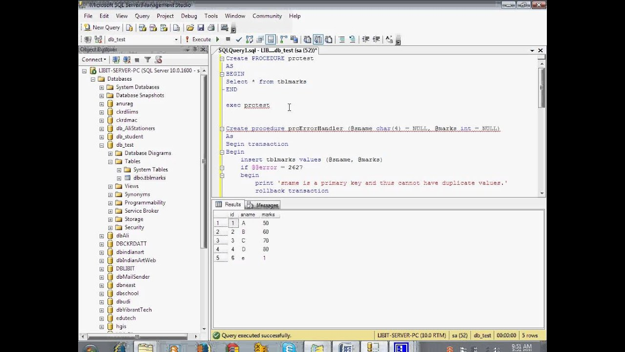 Learn Store Procedure in SQL in Hindi tutorial for