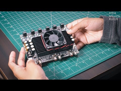 DIY 6 x 100 Watt Class-D Audio Amplifier Board Review | TDA7498