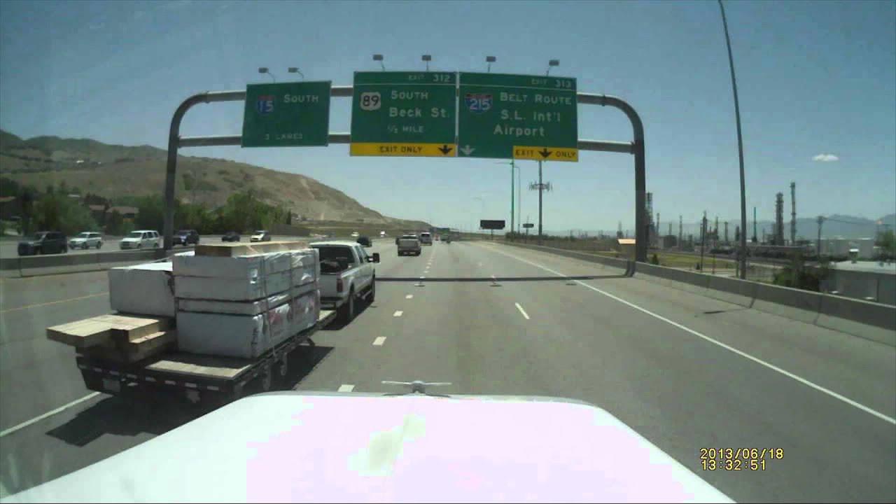 I 15 South Bound Accident In Salt Lake City Utah Youtube