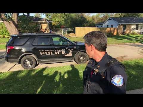 School bus crashes into Elk Grove Village home.