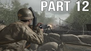 Call of Duty 2 Gameplay Walkthrough Part 12 - USA Campaign - D Day 2/3