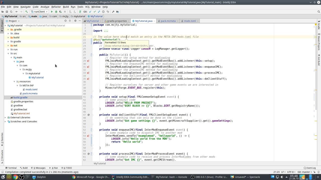 Modding Tutorial 1 14: Episode 1 (IDEA setup, basic mod and first block)