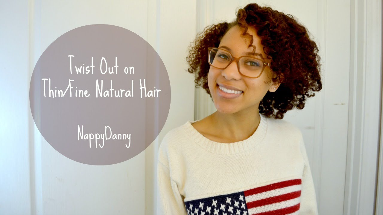 Twist Out For Thin Natural Hair