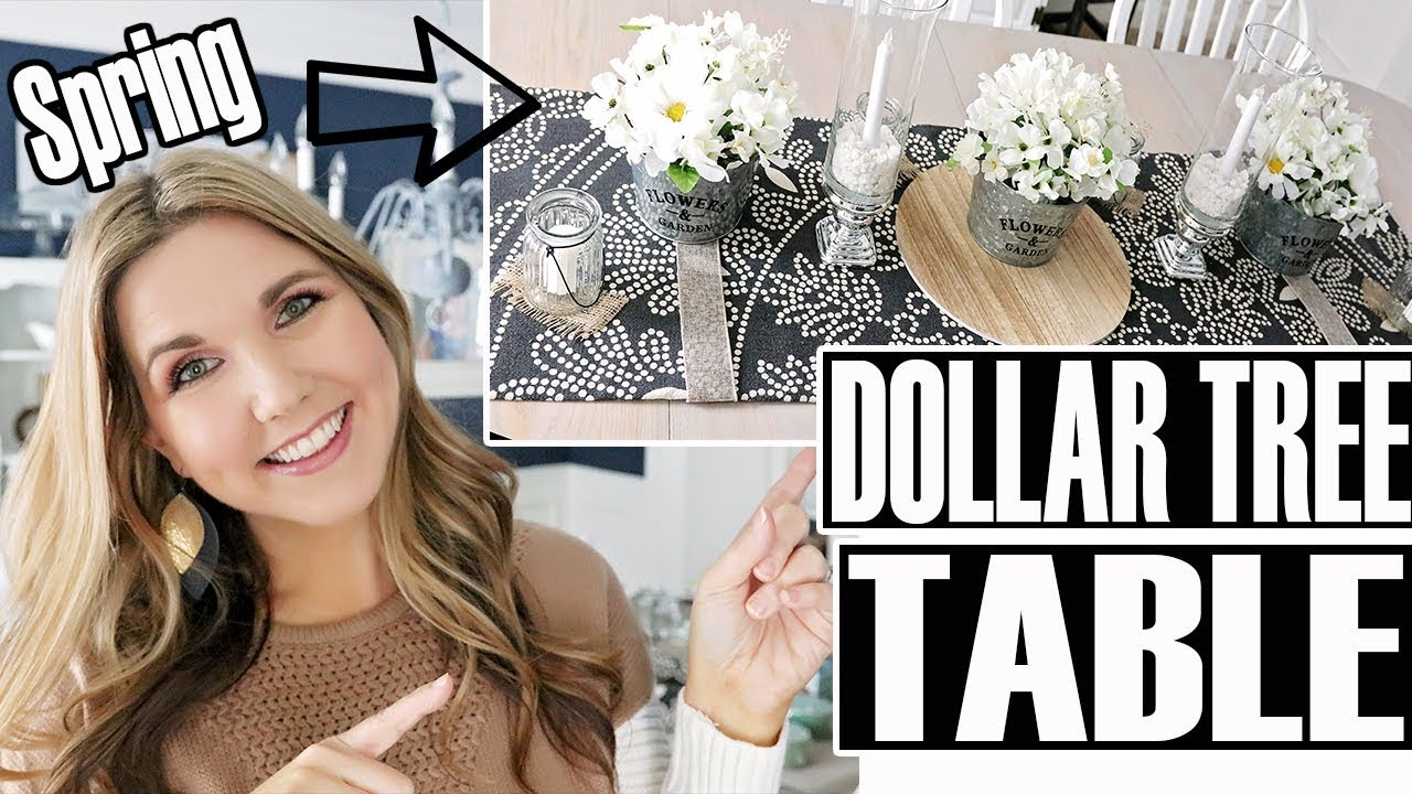 Dollar Tree Dining Room Table Decor Diy Spring Centerpiece Youtube