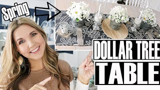 DOLLAR TREE DINING ROOM TABLE DECOR - DIY SPRING CENTERPIECE
