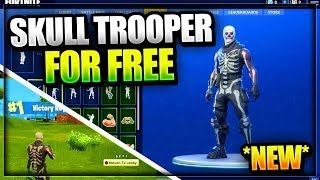 *NEW* Fortnite: How to get the Skull Trooper Skin for FREE - SKIN DUPLICATION GLITCH Battle Royale