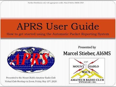 APRS User Guide by Marcel AI6MS