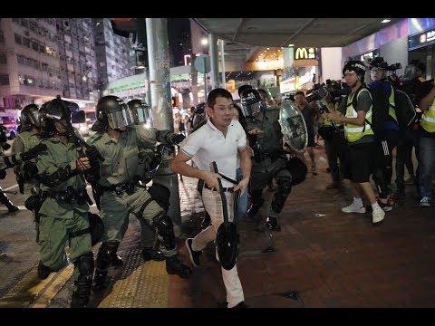 《今日点击》香港抗争100天 黑警 福建帮 燃烧瓶 催泪弹 流血