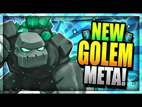 THE MOST BROKEN DECK!! NEW GOLEM MADNESS!! Clash Royale Golem Witch Deck