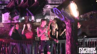 mgk jumps off balcony makes out w fan performs wild boy 4 5 2013