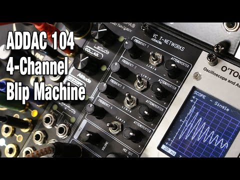 ADDAC 104 VC T-Networks Blip Machine - Full review