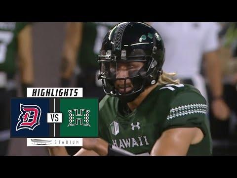 Duquesne Vs Hawaii Football Highlights (2018) | Stadium