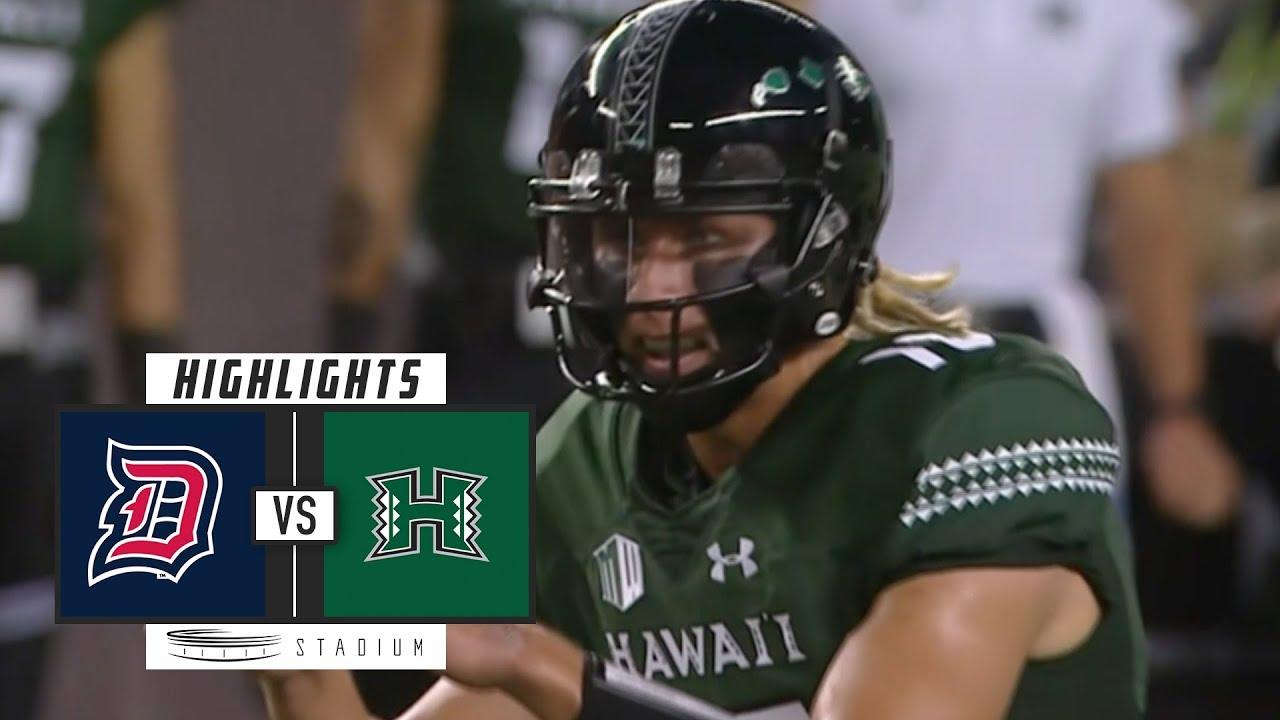 Duquesne Vs Hawaii Football Highlights (2018)