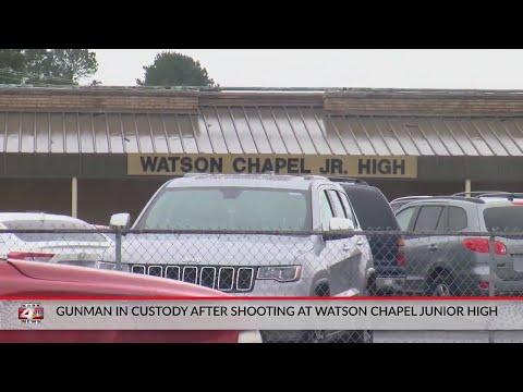 Gunman in custody after shooting at Watson Chapel Junior High School in Pine Bluff