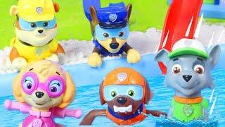 Paw Patrol Unboxing deutsch: Paddling Pups von Feuerwehrmann Marshall, Skye & Chase im Pool