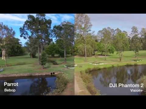 Parrot Bebop Review + Vs DJI Phantom 2 Vision+ camera comparison