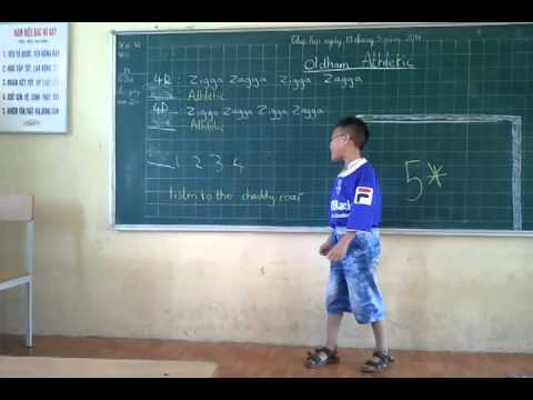 oldham athletic zigger zagger by my brothers class in hanoi vietnam