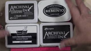 Make Full Size Distress Archival Ink Pad and Black Ink Comparison