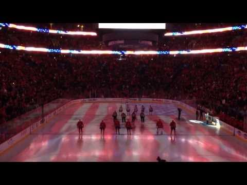 National Anthems at the Bell Centre, Canadiens vs. Blackhawks, January 11, 2014