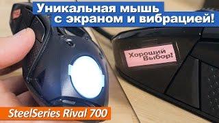 Уникальная мышь с экраном и вибрацией! SteelSeries Rival 700