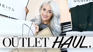 DESIGNER OUTLET FASHION HAUL | JOSEPH, REISS, HOBBS, JAEGER, NICOLE FARHI, 7 FOR ALL MANKIND ad