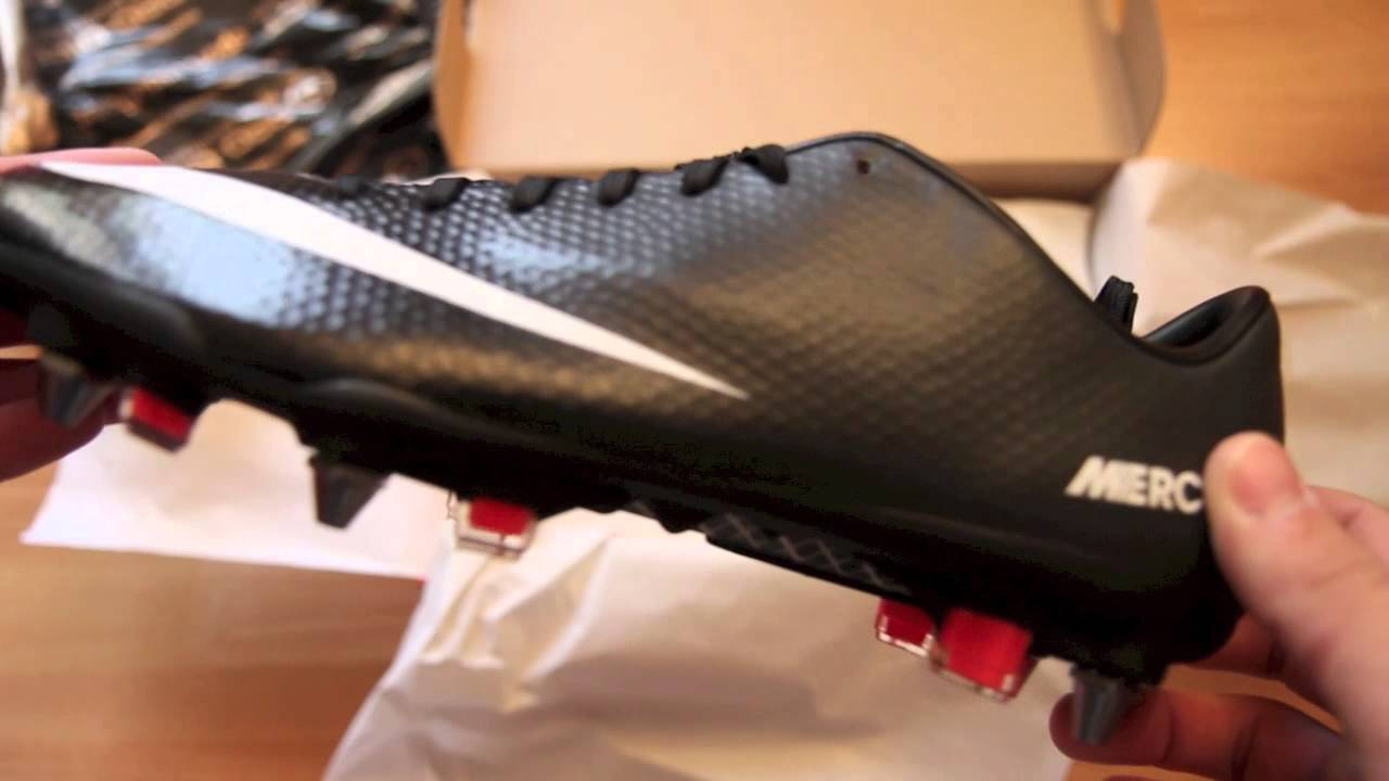 on sale 5942a 45589 Unboxing Nike Mercurial Vapor IX 9 SG professional series - New Black  White Red - YouTube