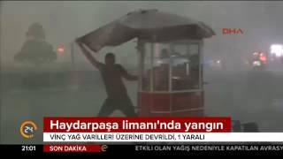İstanbul'da fırtınaya dönen yağmur hayatı olumsuz etkiledi