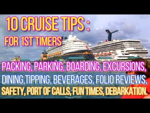10 Cruise Tips For 1st Timers: Port Canaveral, Carnival, From Packing To Debarking