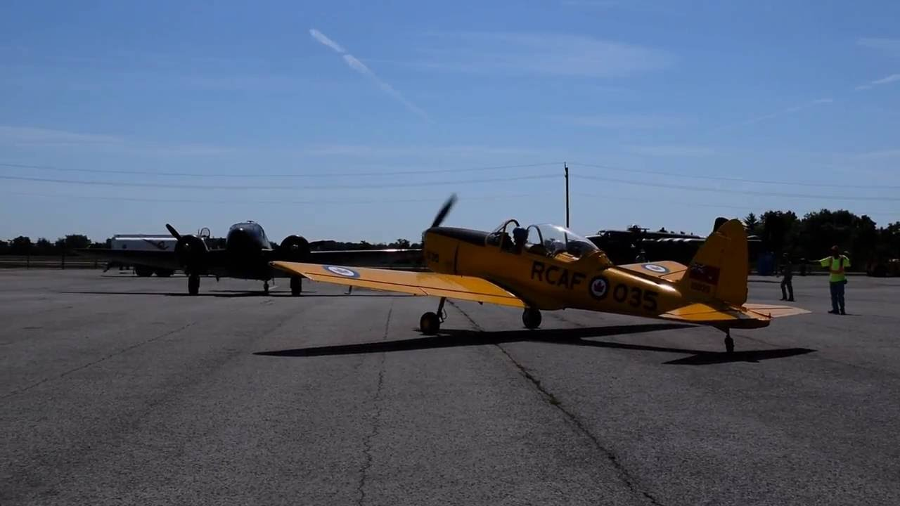RCAF de Havilland Chipmunk Flight - Canadian Warplane Heritage Museum -  FlyFest 2016