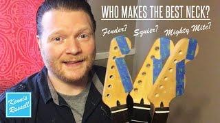Guitar Neck Shootout: Fender vs Squier vs Mighty Mite