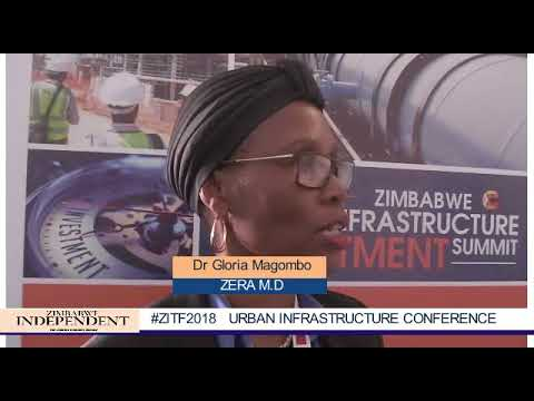 ZERA M.D, Engineer Gloria Magombo speaks during Urban Infrastructure Conference