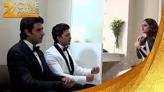 Riteish , Abhishek & Sonakshi Green Room Funny Video Zee Cine Awards 2014