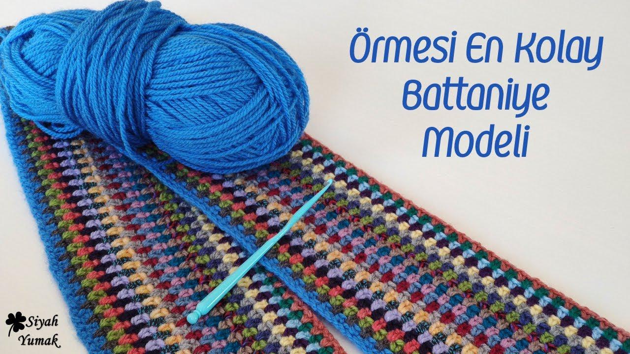 Örmesi En Kolay Battaniye Modeli / Knitting Blanket Pattern
