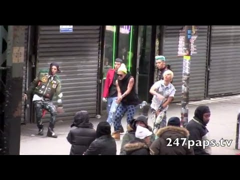 Big Bang Filming their Music Video In New York (120212) BAD BOY Video Behind the scenes [MV] [M/V]