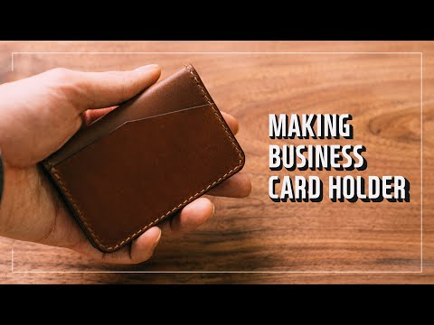 Making a leather BUSINESS CARD HOLDER / 비지니스 명함지갑 / Leather craft PDF / 가죽공예 패턴