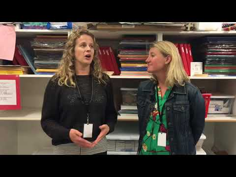 Parent Volunteers Share Experience Teaching Joan Miro to Students