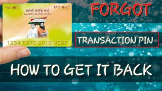 FORGOT YOUR PATANJALI TRANSACTION PIN HOW TO GET IT BACK!!! (HINDI/URDU) || CLASH WITH AARYAN