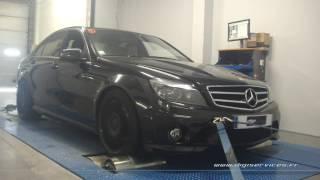 Mercedes C 63 amg 457cv AUTO Reprogrammation Moteur STAGE 2 @ 532cv Digiservices Paris 77 Dyno