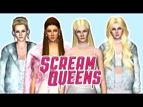 """Scream Queens - """"Kappa Kappa Tau"""" House Tour ( The sims )"""
