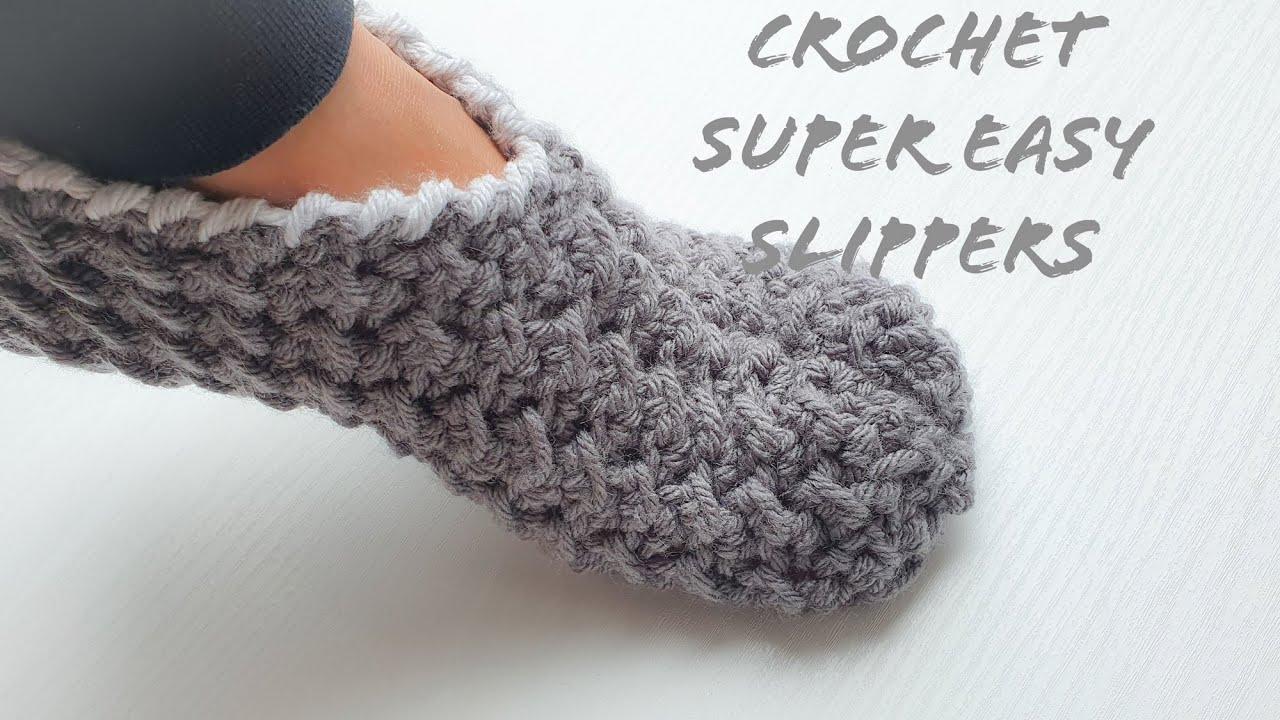 CROCHET SLIPPERS SUPER FAST/EASY/UNIQUE