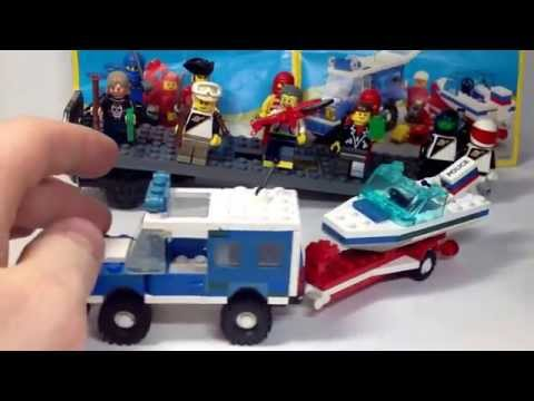 LEGO REVIEW #38 6698 RV WITH SPEEDBOAT AWESOME RETRO!!