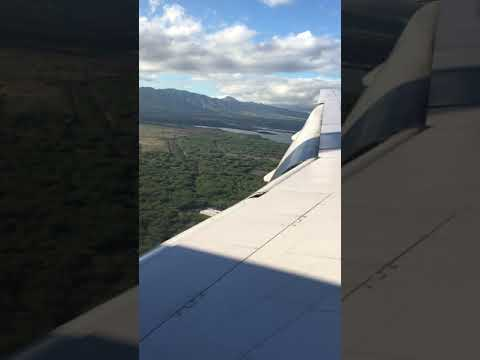 Landing And Taxi At Honolulu International Airport