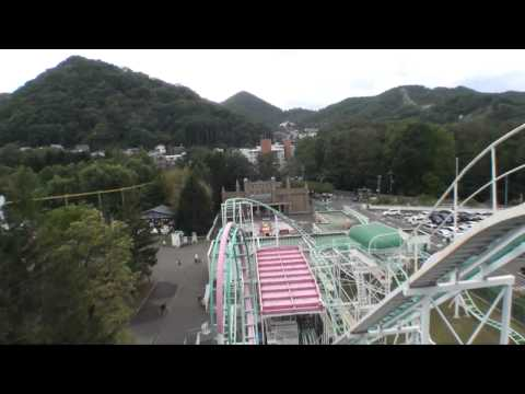 Crazy Togo Loop and Cork Corkscrew Roller Coaster Front Seat POV Onride Maruyama KidLand Japan