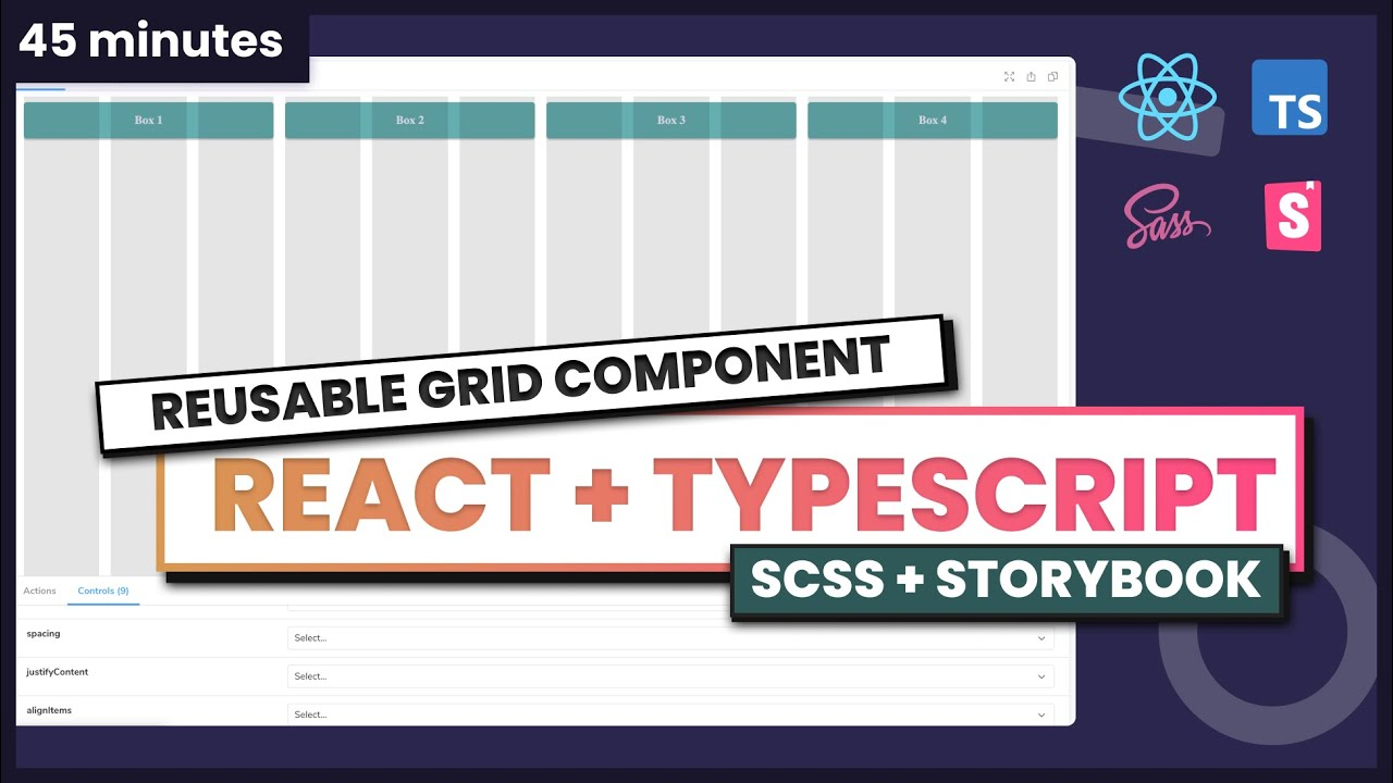 Complete tutorial - Grid component with React + Typescript + Storybook + SCSS